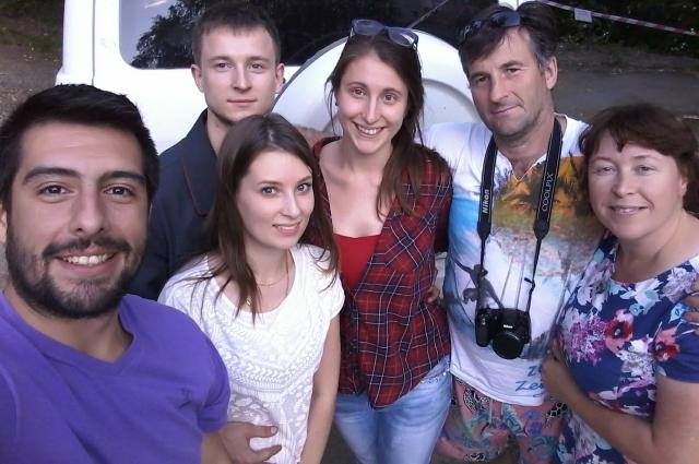 Анастасия и Леонардо в гостях у родителей девушки в России