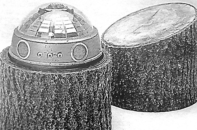 «Пенёк с начинкой» – радиоэлек- тронное устройство, установленное под Можайском.