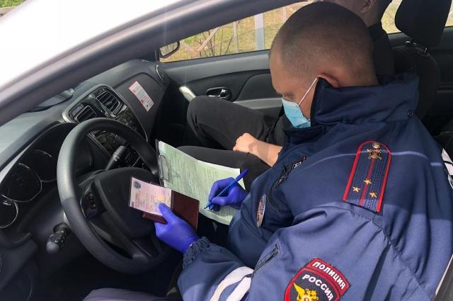 Некоторые водители получили штрафы за тонировку