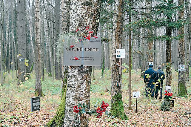 Мужа Цветаевой Сергея Эфрона захоронили на Коммунарке