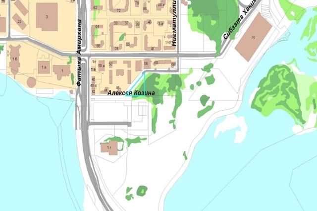 Под новый госпиталь отвели место на другом берегу Казанки.