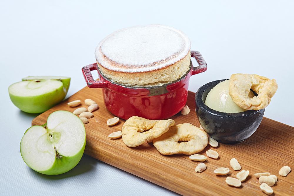 Яблочное суфле с арахисом