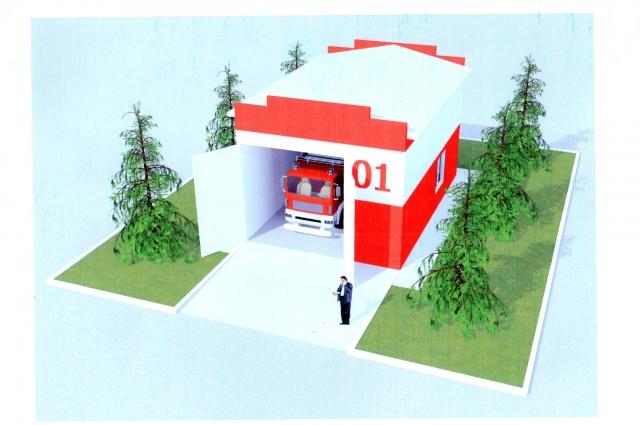 В будущем так будут выглядеть все посты добровольной пожарной охраны.