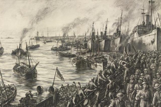 Высадка в Дувре войск, эвакуированных из Дюнкерка.