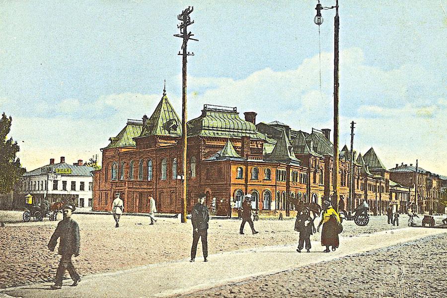 Так выглядел драмтеатр в начале прошлого века.