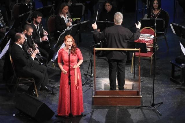Выступление с оркестром на концерте русской музыки