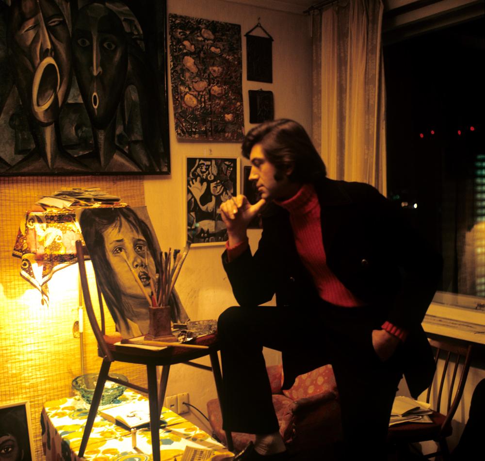 Заслуженный артист РСФСР Геннадий Бортников и его живописные работы. 1973 г.