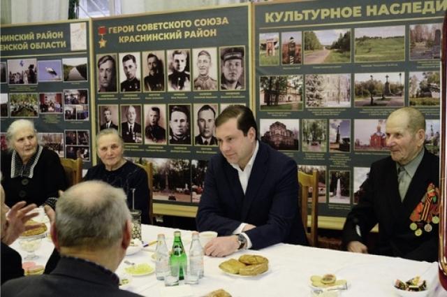Глава региона встретился с ветеранами и вручил им юбилейные медали «75 лет Победы в Великой Отечественной войне 1941 - 1945 гг.».
