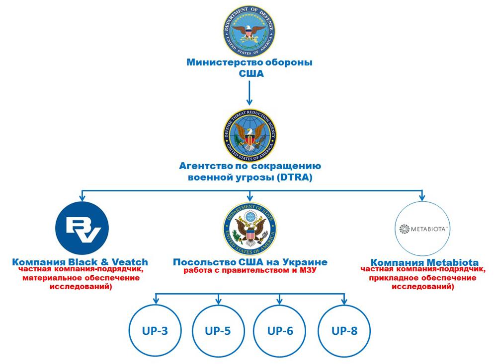 Структура управления биологическими проектами на Украине