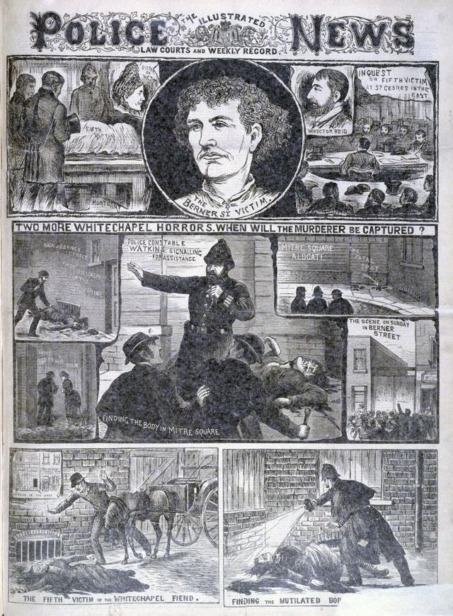 Изображение в газете The Illustrated Police News . (Лондон, 6 октября, 1888)