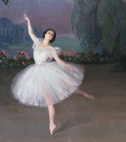 Тамара Карсавина в балете «Сильфиды», Савелий Сорин, 1910