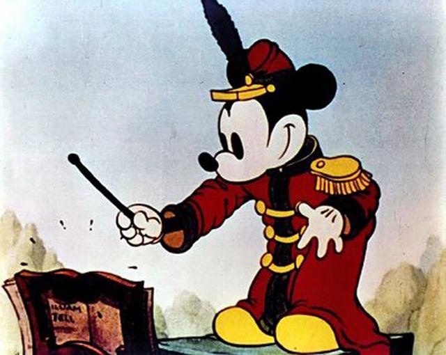 Микки Маус в мультфильме «Концерт».