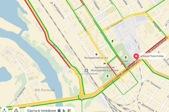 Движение в городе не нормализовалось даже после 9 часов утра.