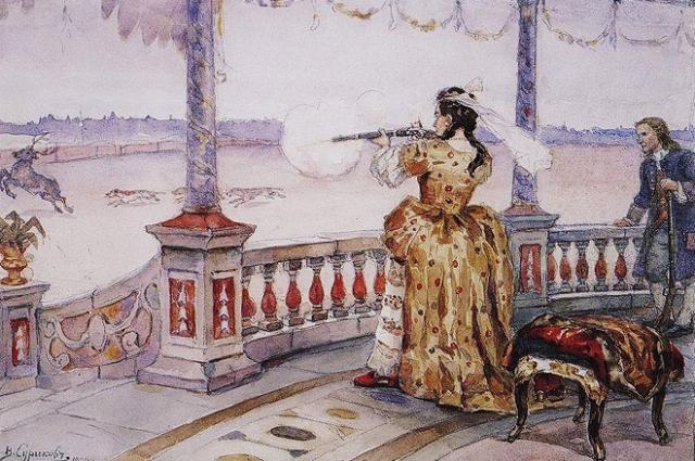 Анна Иоанновна любила охоту и всегда возвращалась с добычей.