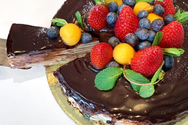 Блинный торт «Два шоколада»