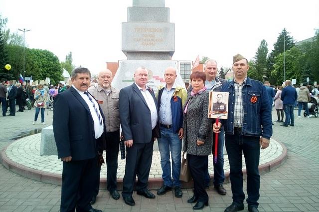 Коллектив Трубчевского СП на праздновании Дня Победы.
