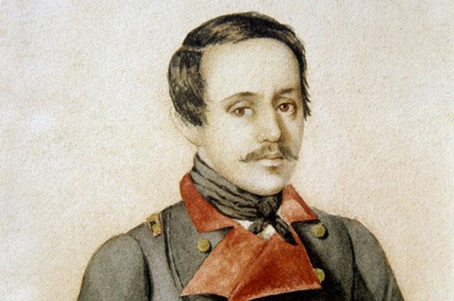 Репродукция картины Портрет М. Ю. Лермонтова в сюртуке офицера Тенгинского пехотного полка, 1841 г