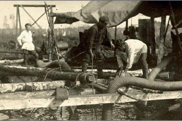 Насосная станция на торфоразработках