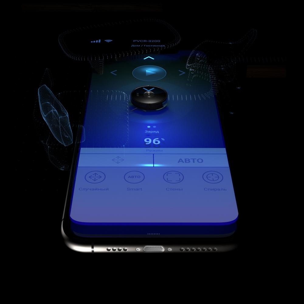 Действия робота-пылесоса можно отслеживать онлайн через смартфон.