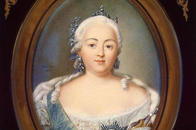 Императрица Елизавета Петровна. Репродукция с портрета Жана Анри Беннера.