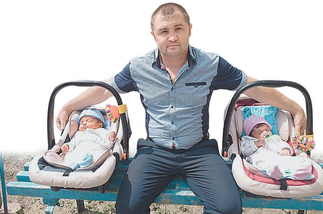 В этом году герой Титов стал отцом двойни - дочки и сына