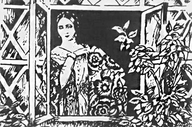 Катерина Львовна Измайлова.  Иллюстрация Бориса Кустодиева.