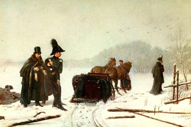 Дуэль Пушкина с Дантесом. Художник А. Наумов 1884 год.