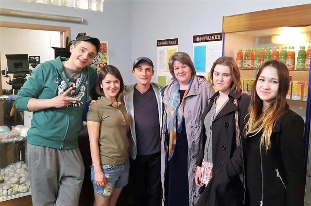 Марина Салмина побывала на съёмочной площадке сериала