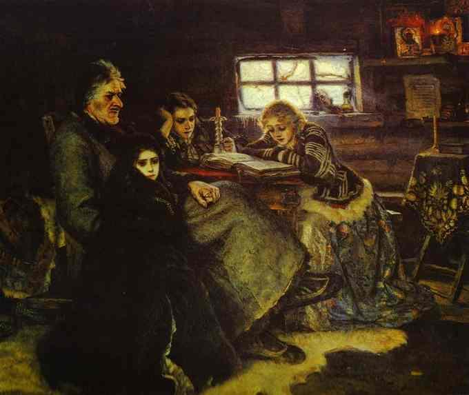 Картина Меншиков в Берёзово . Художник В.И. Суриков (1888)