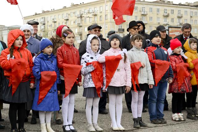 Вступление в пионеры в Волгограде.