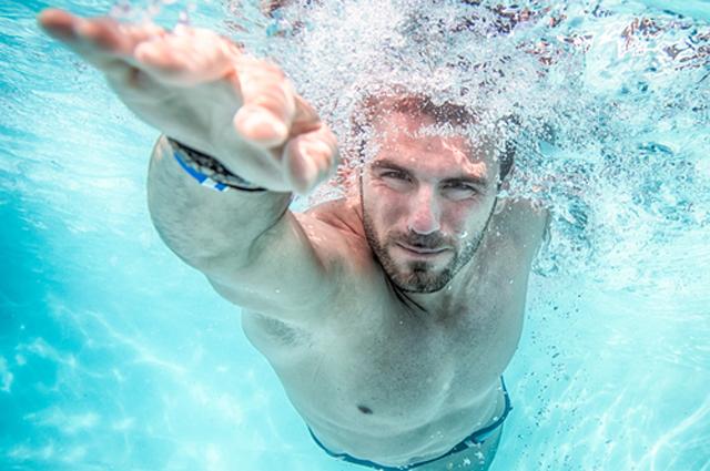Бассейн, плавание, мужчина