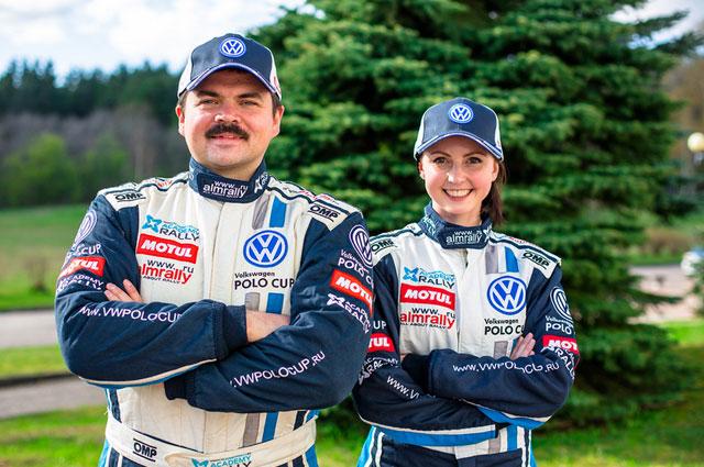3.    Юрий Урюков и Юлия Шатохина – победители первого этапа VW Polo Cup.