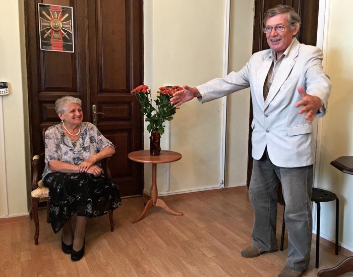 Чествование Александры Григорьевой.