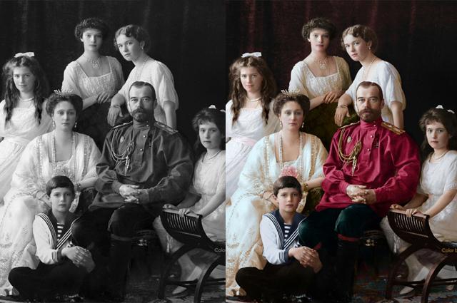 Раньше Ольга уже раскрашивала фотографии семьи Николая II.