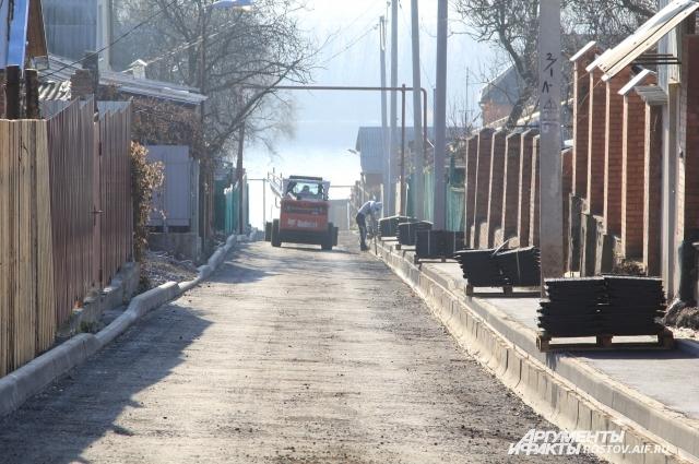В переулке Одоевский впервые уложили асфальт.