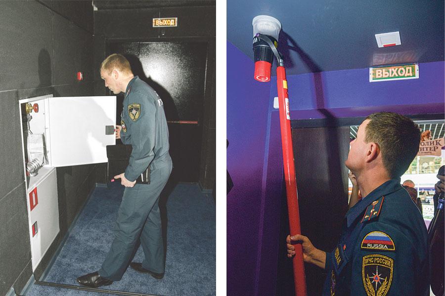 Пожарные убедились: всё работает исправно.