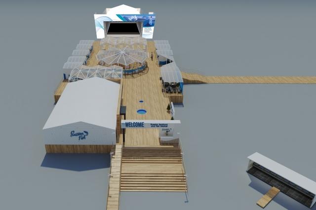 Визуализация главной сцены выставки