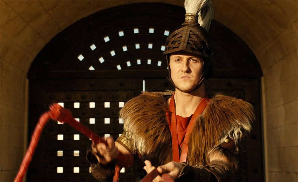 Michael Schumacher in the film Asterix at the Olympics.