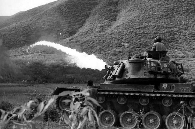 Огнемётный танк M67 Zippo в Дананге