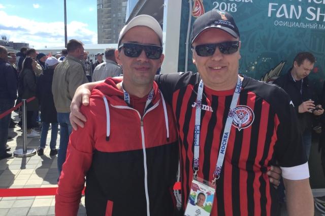 Пермяки Сергей Стрелков и Александр Гилин на чемпионате мира планируют посетить семь матчей.
