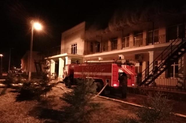 Пожар в поликлинике