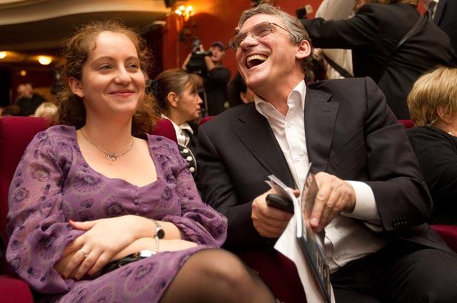Валерий Гаркалин с дочерью Никой на открытии фестиваля.