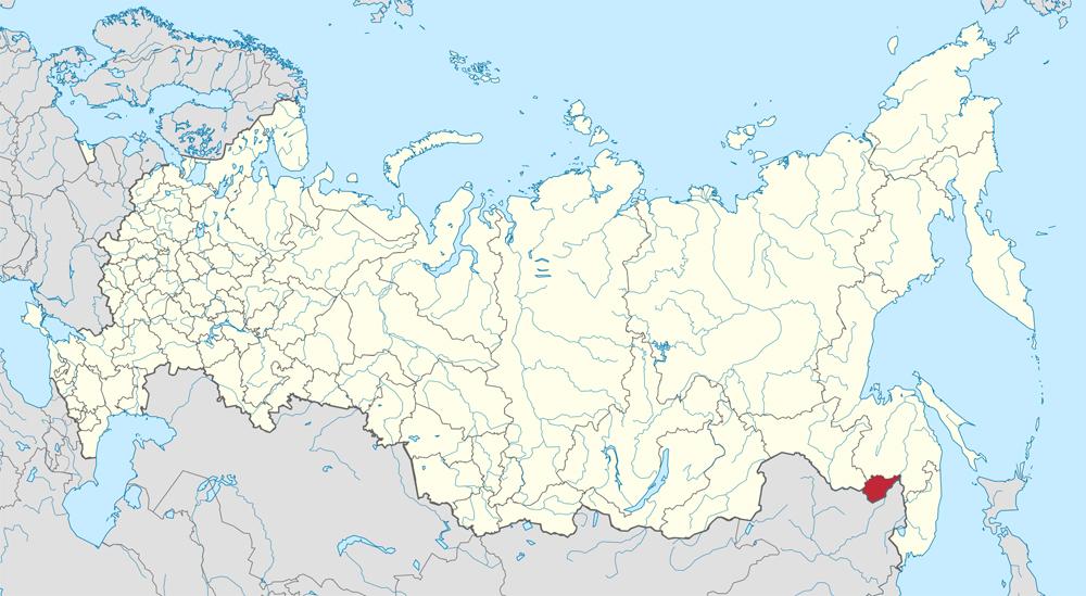 Еврейская автономная область на карте.