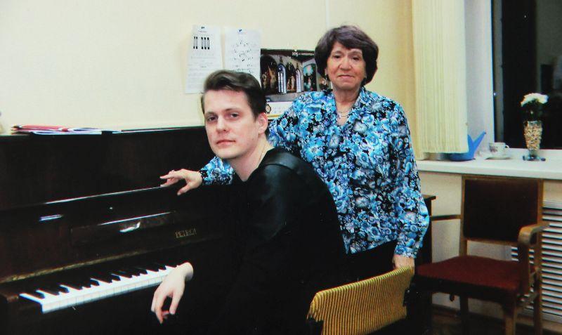 С учеником Андреем Злобиным, ныне доцентом Казанской консерватории