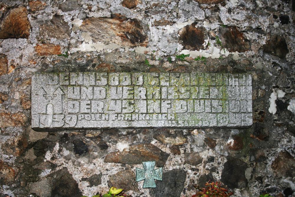 Мемориальная доска 45-й пехотной дивизии в австрийском Линце.