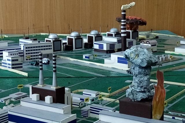 На этом макете военные отрабатывают действия в случае аварии на ядерном реакторе.
