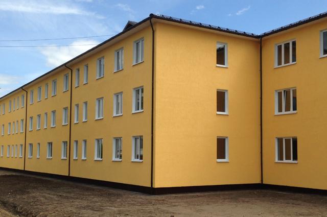 Энергоэффективный дом, построенный вгородском поселении Решетниково Московской области попрограмме переселения граждан изаварийного жилищного фонда.