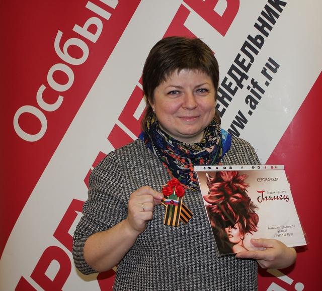 Ирина Шерстобитова получила украшение к 9 мая от мастера Зои Тришиной.