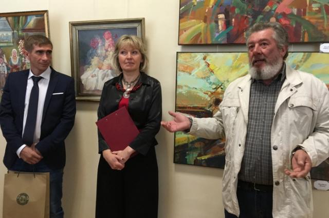 На открытии выставки в Псковском музее-заповеднике.