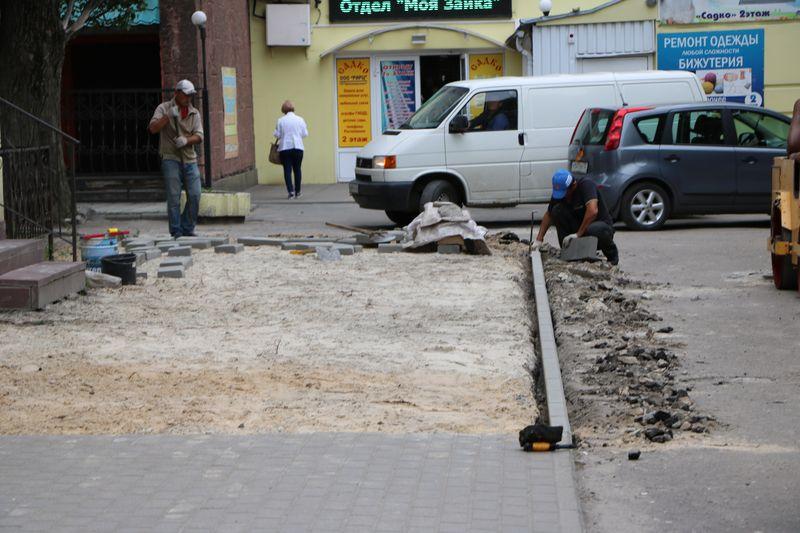 Ремонт тротуара в Брянске